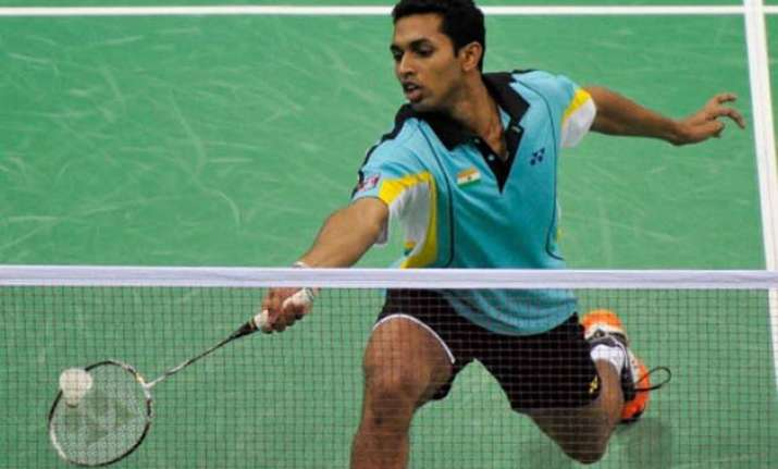 prannoy upsets top seed jorgensen kashyap loses in india