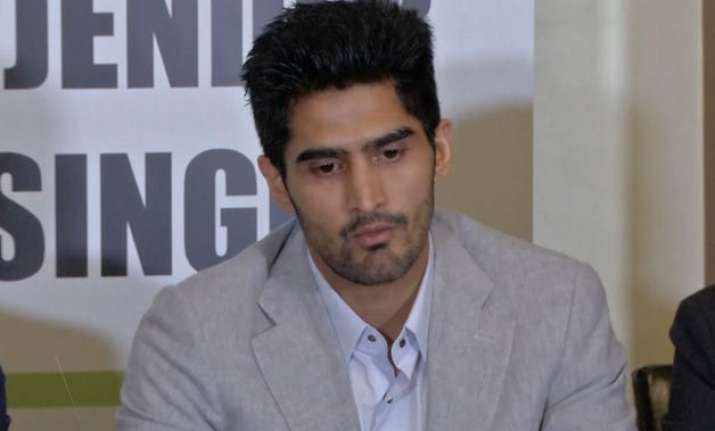 boxer vijender singh warned by haryana police after turning