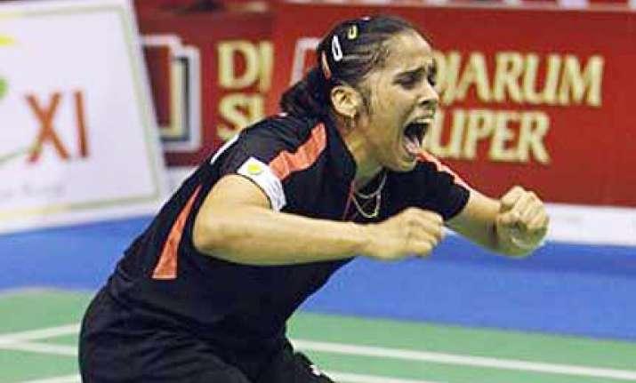 saina clinches indian gp badminton singles title