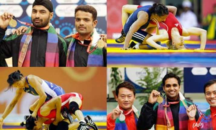 india grab ten medals to keep second position