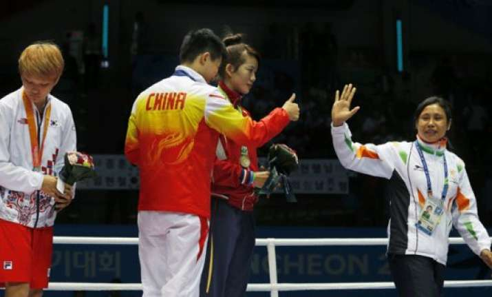 boxer devi suspended for asian games protest