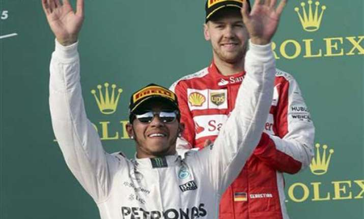 hamilton leads 1 2 finish for mercedes at australian gp