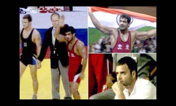 sushil wins gold more medals for indian grapplers