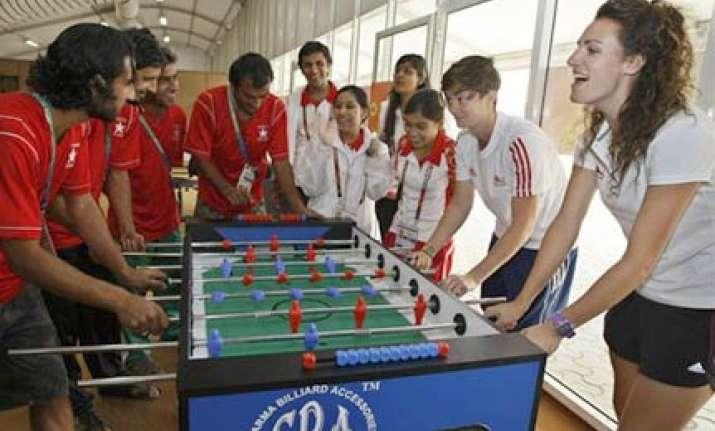athletes bid adieus to games village