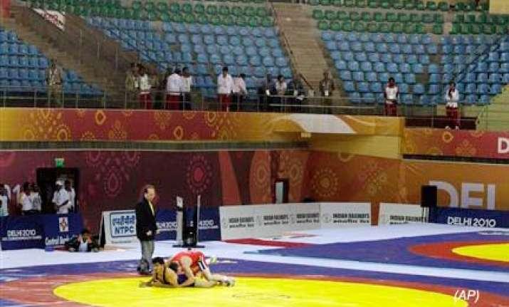 rajender wins gold sunil bags bronze in greco roman