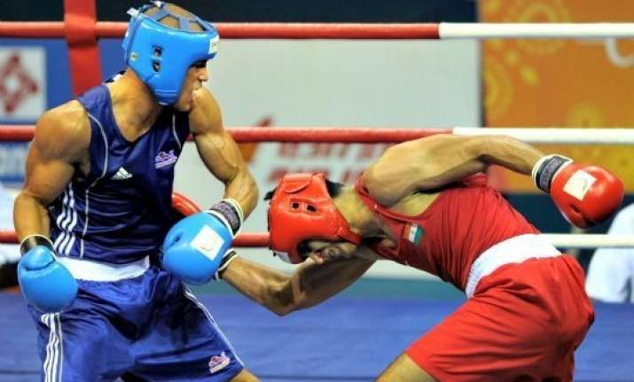 asian games indian boxers vikas satish settle for bronze