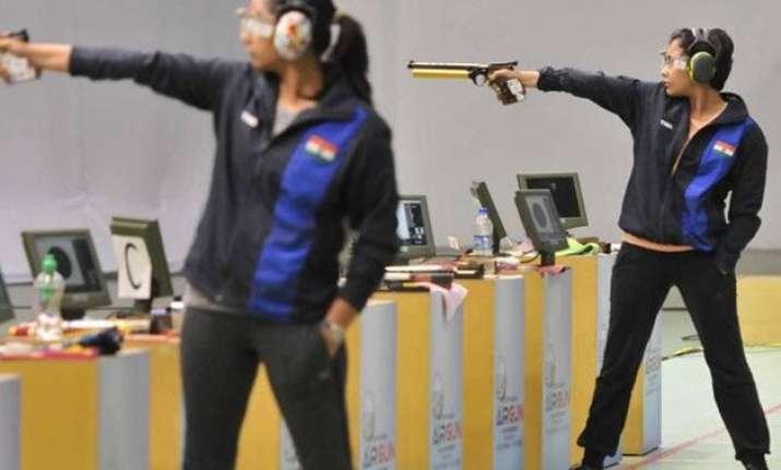 heena sidhu wins 10m air pistol gold at asian air gun