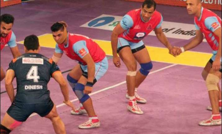 pro kabaddi league jaipur pink panthers register second win