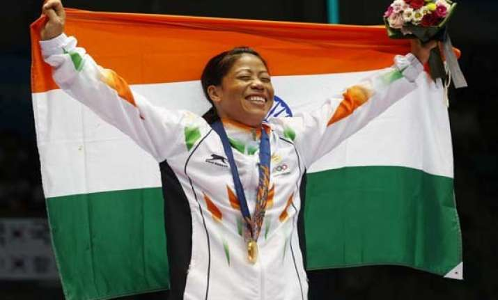 asian games mary kom wins historic gold medal