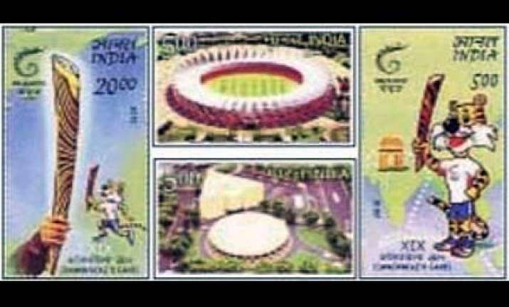 postage stamps issued to commemorate delhi games