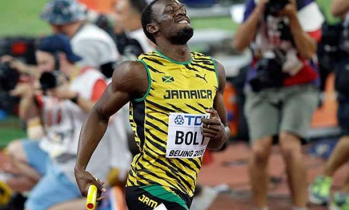 usain bolt wins world treble with relay gold
