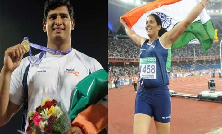 vikas gowda seema punia recommended for khel ratna