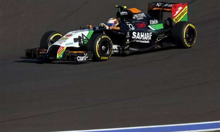 russian gp force india concedes 5th spot to mclaren