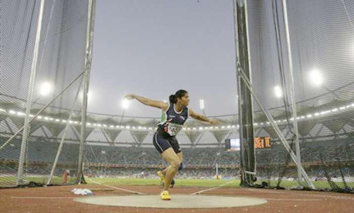 pooniya leads clean sweep of discus medals vijender shocked