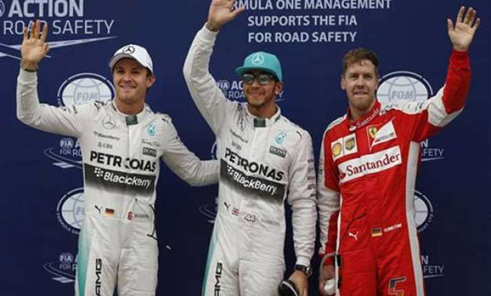 hamilton on pole vettel 2nd in qualifying at malaysian gp