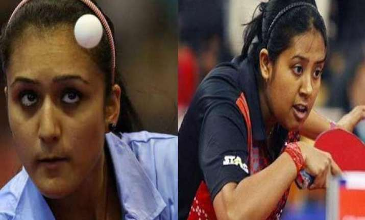 asian games indian women paddlers manika ankita ousted