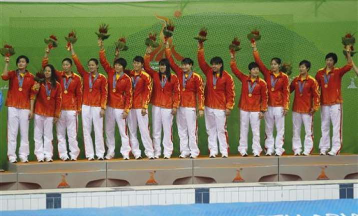 china funded indian team to win water polo gold