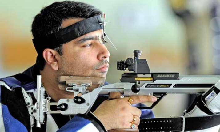 gagan narang in first air rifle final of world event since
