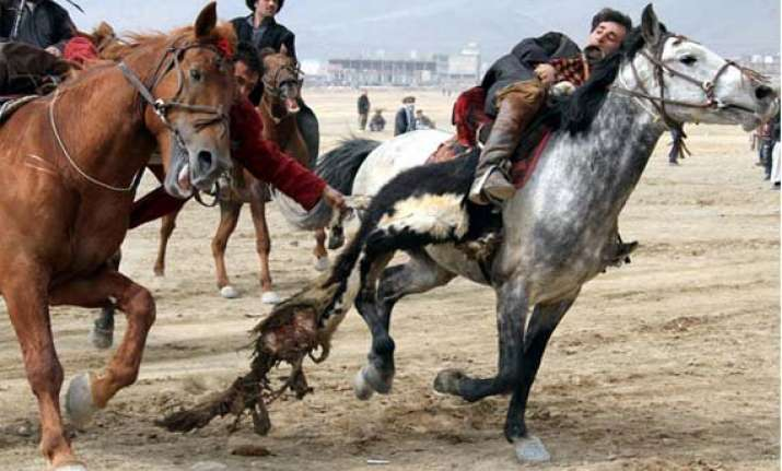 know about buzkashi a game played with headless goat carcass