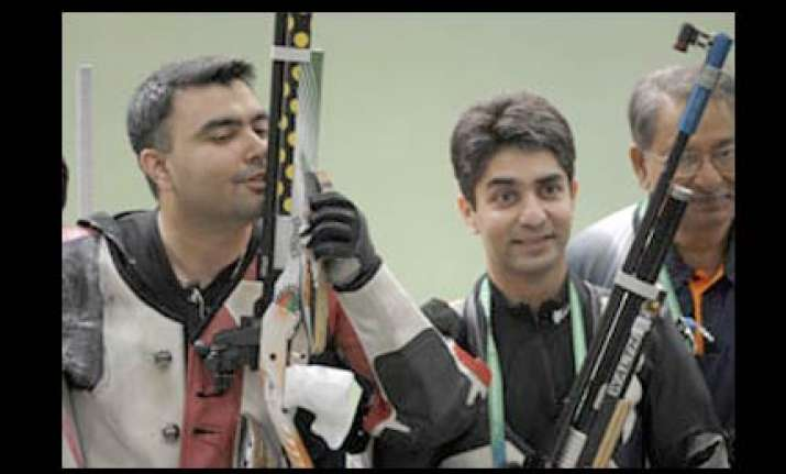 gagan shoots another gold bindra gets silver