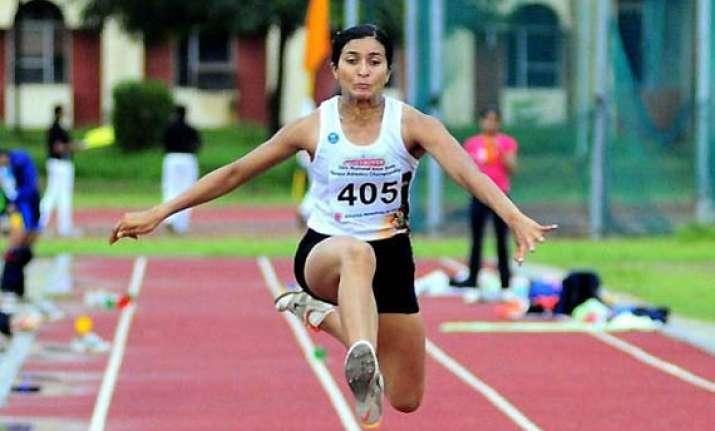 india s mayookha johny wins asian women s long jump gold