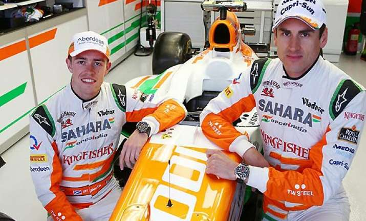 indian grand prix force india drivers say points a far cry