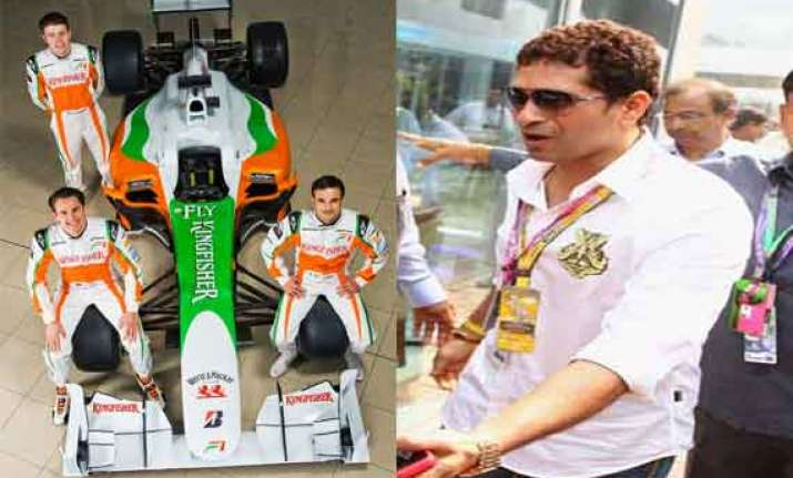 indian grand prix force india to honor sachin tendulkar