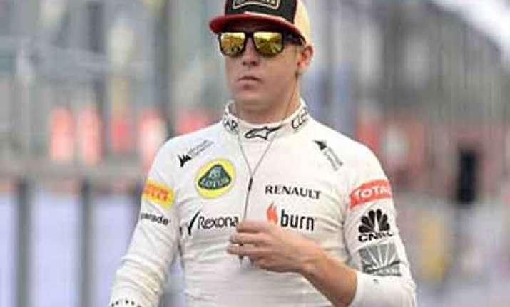 indian grand prix raikkonen fined for speeding in pit lane