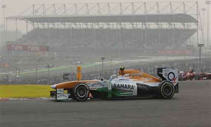 indian grand prix force india record first double points