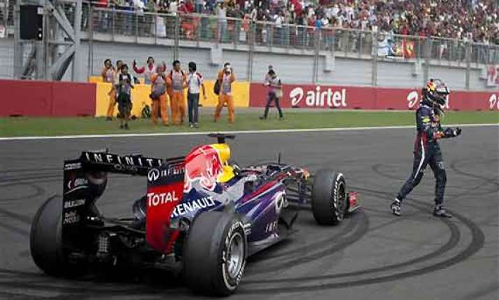 indian grand prix vettel s celebrations cost red bull 25