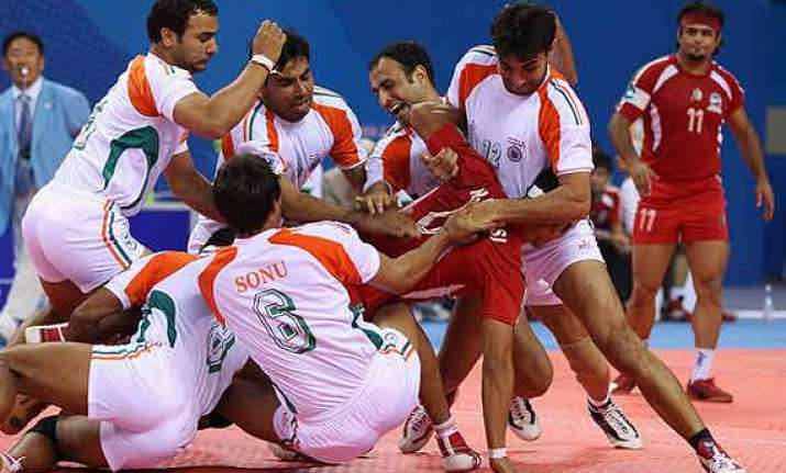 asian games indian men s kabaddi team grouped with pakistan