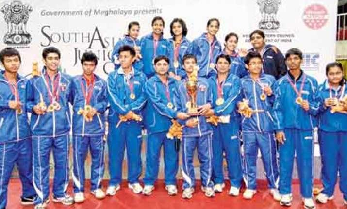 indian paddlers dominate 12th saf junior tt championship