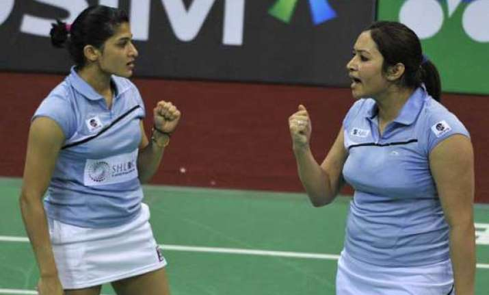 jwala ashwini exit from japan open