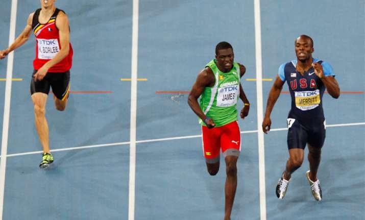 kirani james wins men s 400 metres