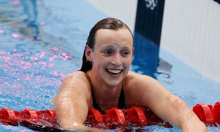 ledecky first woman to win three freestyle events