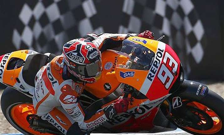 marc marquez takes pole at spain motogp