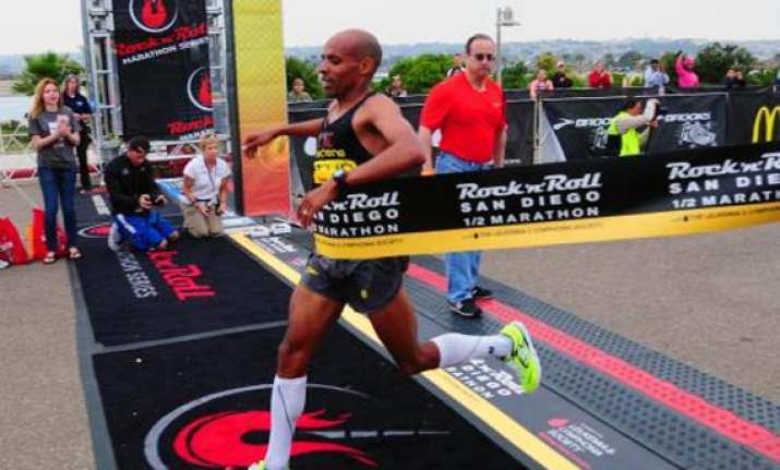 meb beats hall in rock n roll half marathon