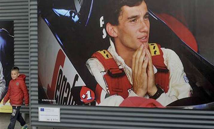 memorial held in imola for ayrton senna and roland