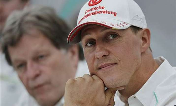 michael schumacher showing moments of consciousness