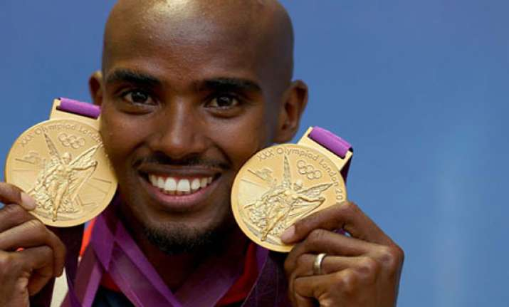mo farah wins second gold medal at the 2013 world athletics