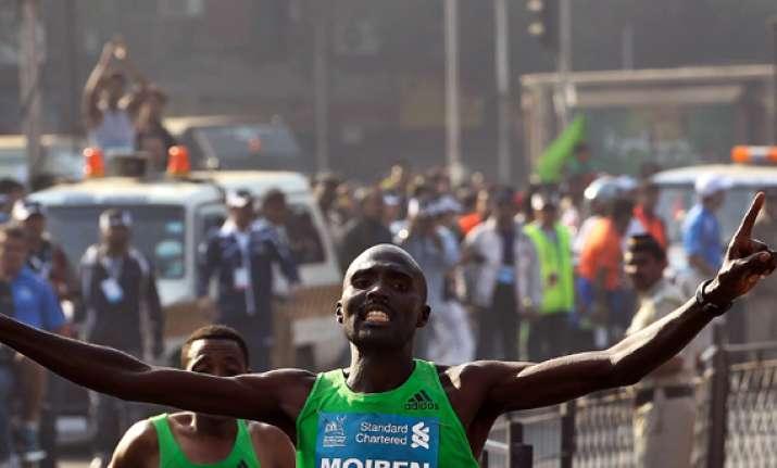 moiben abeyo win mumbai marathon india s yadav gets olympic