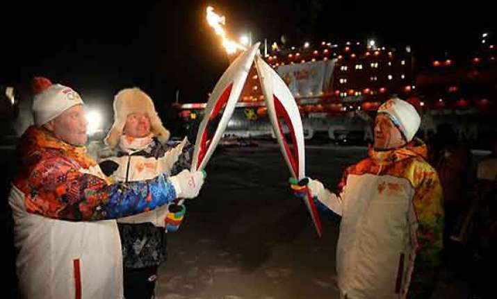 olympic torch reaches north pole