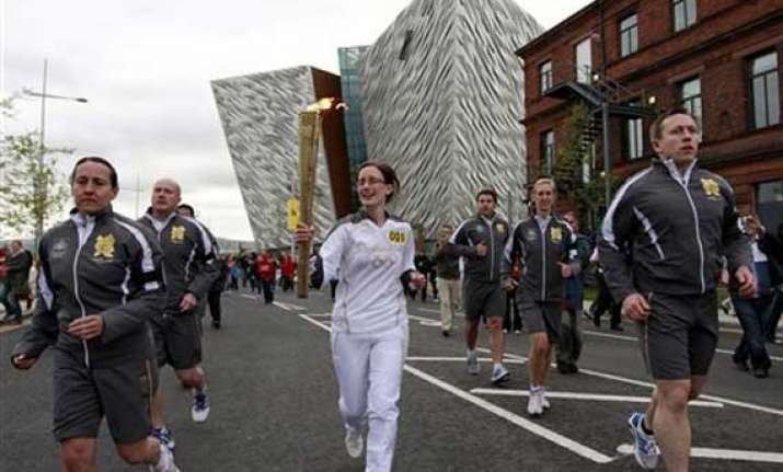 olympic torch starts 5 day northern ireland tour