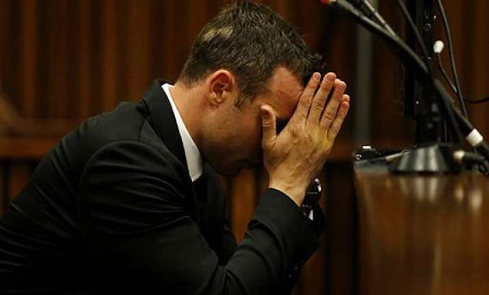 oscar pistorius on the line now in murder trial.