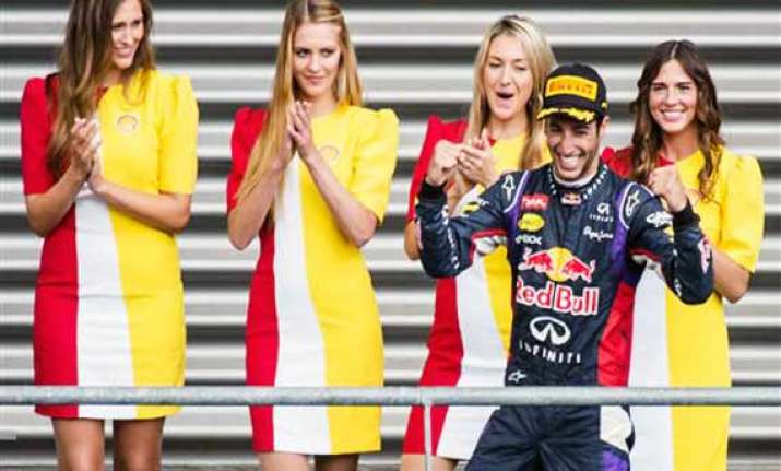 ricciardo beats rosberg to win belgian gp