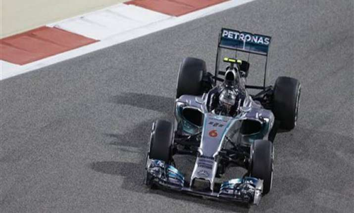rosberg beats teammate hamilton to bahrain pole