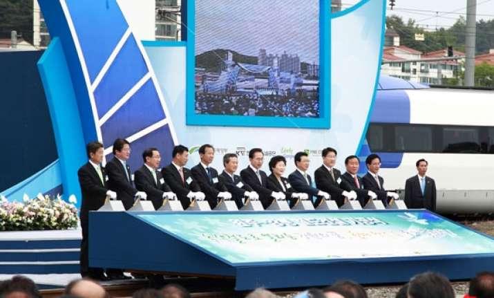 skorea building high speed railway to pyeongchang