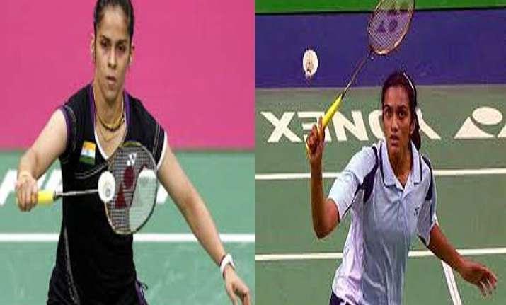 saina nehwal advances p.v.sindhu out of india open