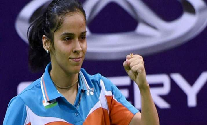 saina sindhu put india 2 0 ahead against japan in uber semis