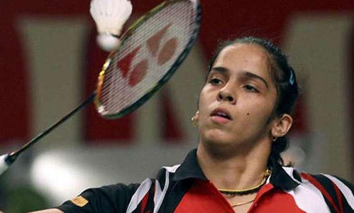 saina nehwal through to all england quarter finals.